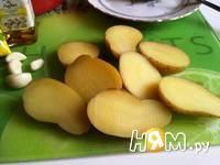 Приготовление  картошки с кунжутом и соусом: шаг 3
