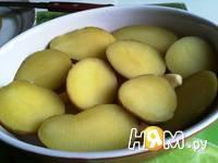 Приготовление  картошки с кунжутом и соусом: шаг 4