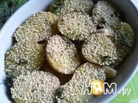 Приготовление  картошки с кунжутом и соусом: шаг 6