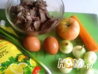 Приготовление салата с куриной печенью: шаг 1