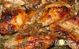 Курица, запеченная в остром томатном маринаде