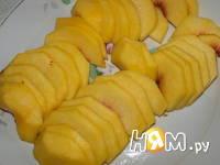 Приготовление пирога с персиками: шаг 7