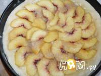Приготовление пирога с персиками: шаг 8
