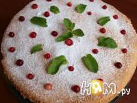 Приготовление пирога с персиками: шаг 15