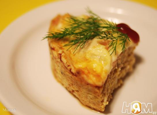 Рецепт Мясной пудинг с тыквой