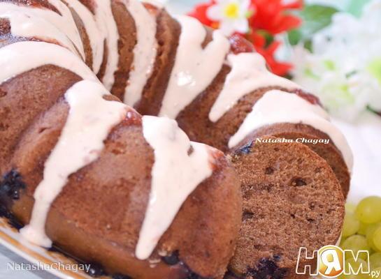 Шоколадный пирог на йогурте