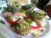 Приготовление закуски из скумбрии и помидор с соусом: шаг 12