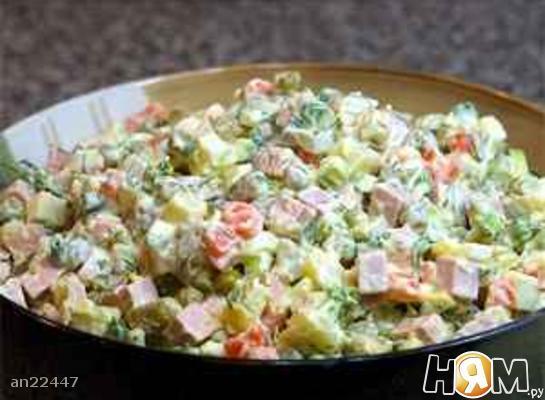 Зимовий салат Олів'є