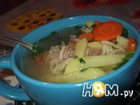 Приготовление картофельного супа с зеленым горошком: шаг 4