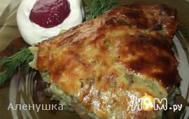 Картофельный пирог с шампиньонами