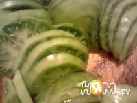 Приготовление салата с зелеными помидорами: шаг 6