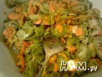 Приготовление салата с зелеными помидорами: шаг 8