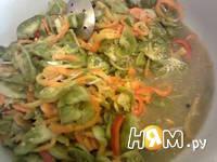 Приготовление салата с зелеными помидорами: шаг 9