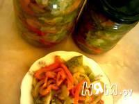 Приготовление салата с зелеными помидорами: шаг 11