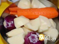 Приготовление индейки с овощами в соусе: шаг 1