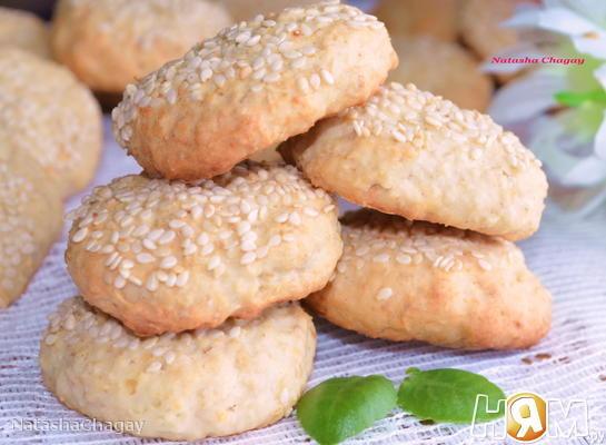 Творожно - овсяное печенье