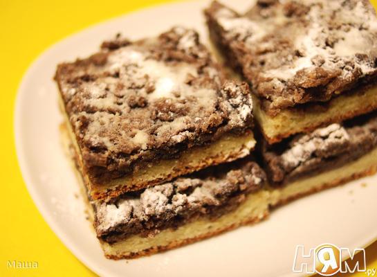 Творожный пирог с шоколадной посыпкой