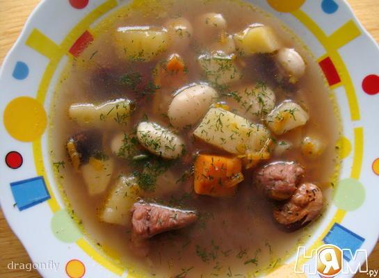 Деревенский суп с фасолью