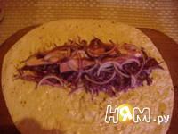 Приготовление рулета с овощами и копченой грудинкой: шаг 8