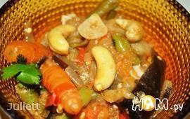 Рагу с кешью и мини-морковью