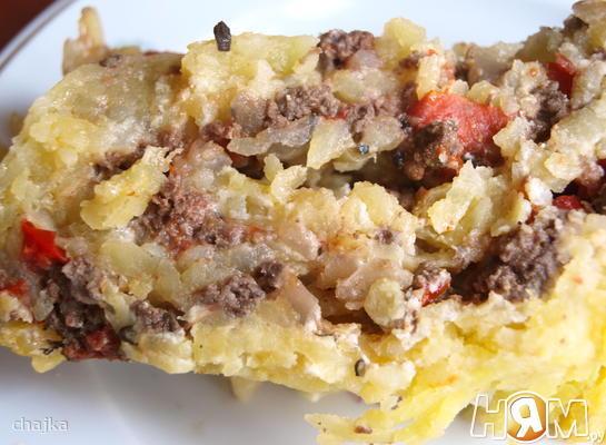 Рецепт Запеканка из картофеля с мясным фаршем