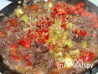 Приготовление запеканки из картофеля с мясным фаршем: шаг 4