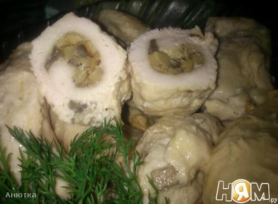 Куриные рулетики с грибами