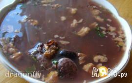 """""""Шоколадный"""" суп из фасоли"""