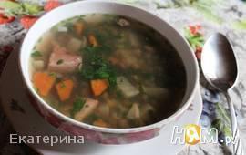 Горохово-чечевичный суп с копченостями