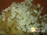 Приготовление салата с сельдью по-датски: шаг 5