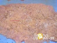 Приготовление рулетиков из свинины с начинкой: шаг 1