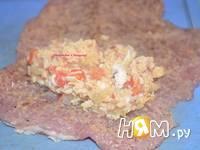 Приготовление рулетиков из свинины с начинкой: шаг 4