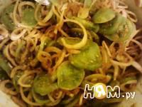 Приготовление салата из зеленых помидоров со специями: шаг 6