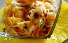 Салат овощной с мандарином