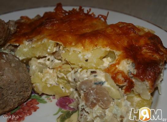 Цветная капуста  с картофелем запеченая
