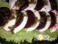 Приготовление салата Капризе с печеной свеклой: шаг 10