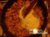 Приготовление пасты с беконом и горошком: шаг 4