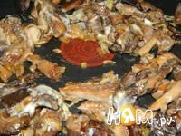 Приготовление блинчиков с грибами: шаг 4