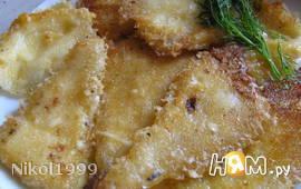 Сыр жареный в сметане