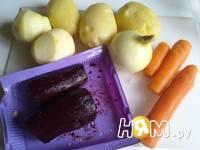 Приготовление селедки под шубой в желе: шаг 2