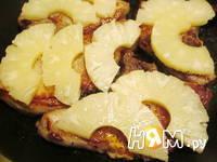 Приготовление свиной корейки под ананасами с сыром: шаг 5