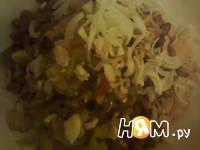 Приготовление винегрета с фасолью: шаг 4