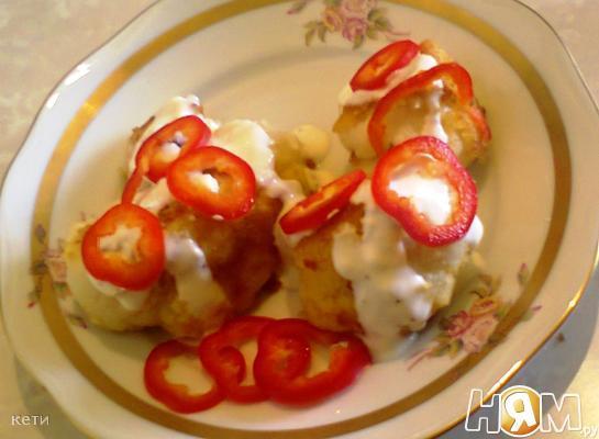 Рецепт Цветная капуста с острым соусом