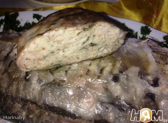 Рецепт Запеченный, фаршированный карп
