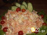 Приготовление салата с копченой курицей и кукурузой: шаг 8