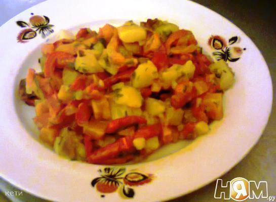 Рецепт Горячая закуска из овощей