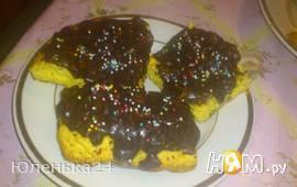 Тыквенное печенье в глазури