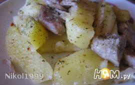 """Картошка с мясом """"Детская"""" (запеченая в рукаве)"""