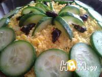 Приготовление салата Нежность с черносливом: шаг 8