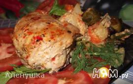 Курица,запеченная с овощами